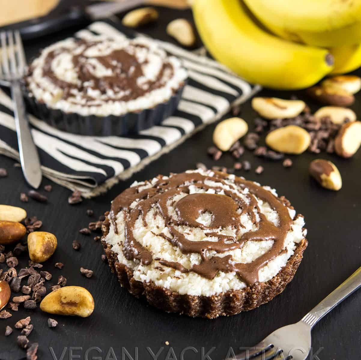 Jungle Pie with Banana, Coconut & Chocolate