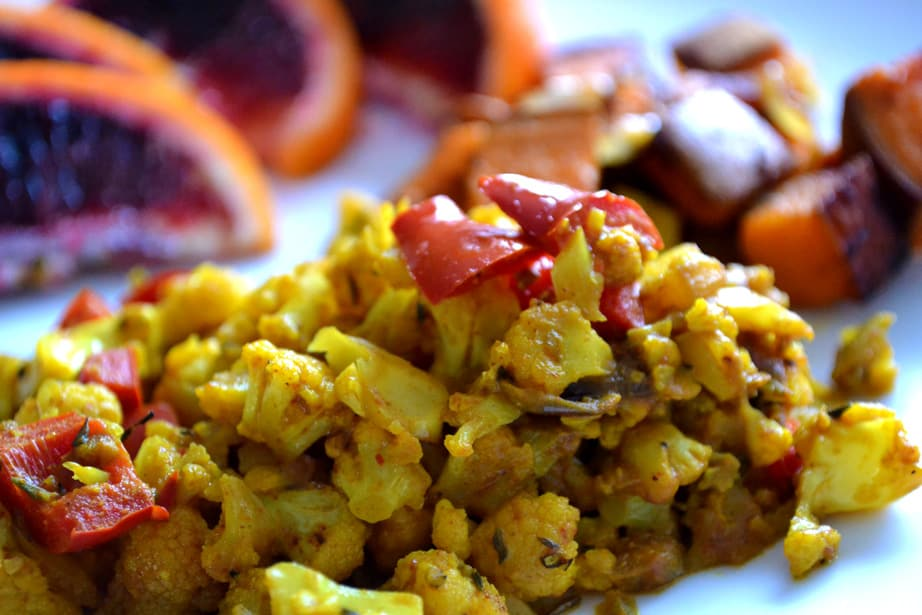Vegan Cauliflower Scramble
