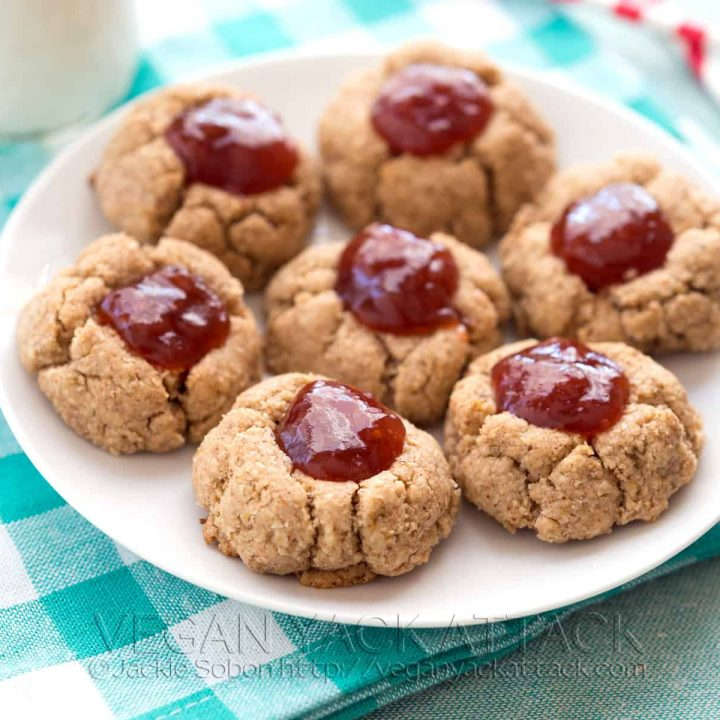 Gluten-free Almond Butter–Jam Thumbprint Cookies