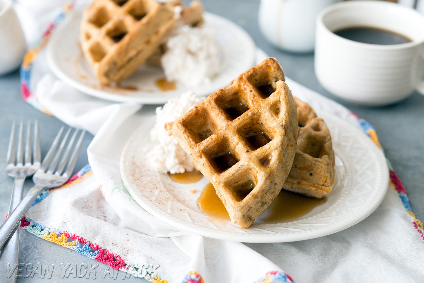 Vegan Carrot Waffles from Love & Lemons Cookbook