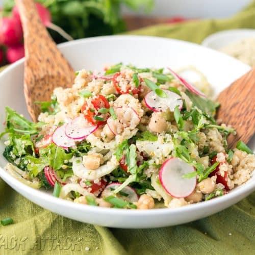 Quinoa Fennel Chickpea Salad - Healthy, Oil-free and Delicious! #vegan #glutenfree