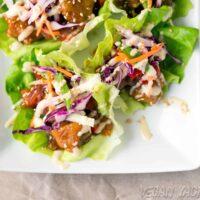 Sweet & Sour Porkless Lettuce Cups