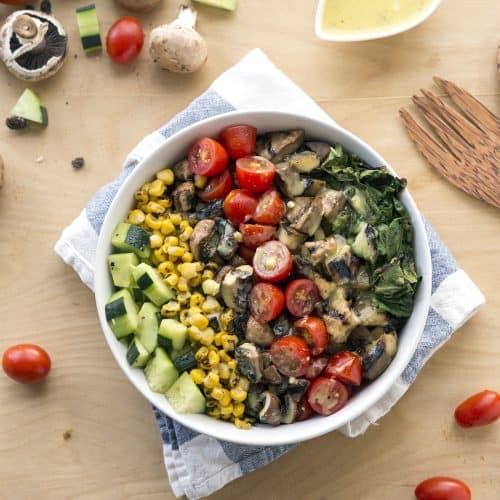 Vegan Bowl Attack! Grilled Romaine Chop Salad