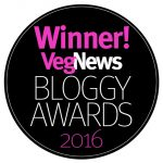 VegNews Bloggy Award Winner
