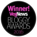 VegNews Bloggy Award Winner