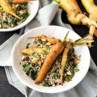 Roasted Carrots & Creamy Quinoa