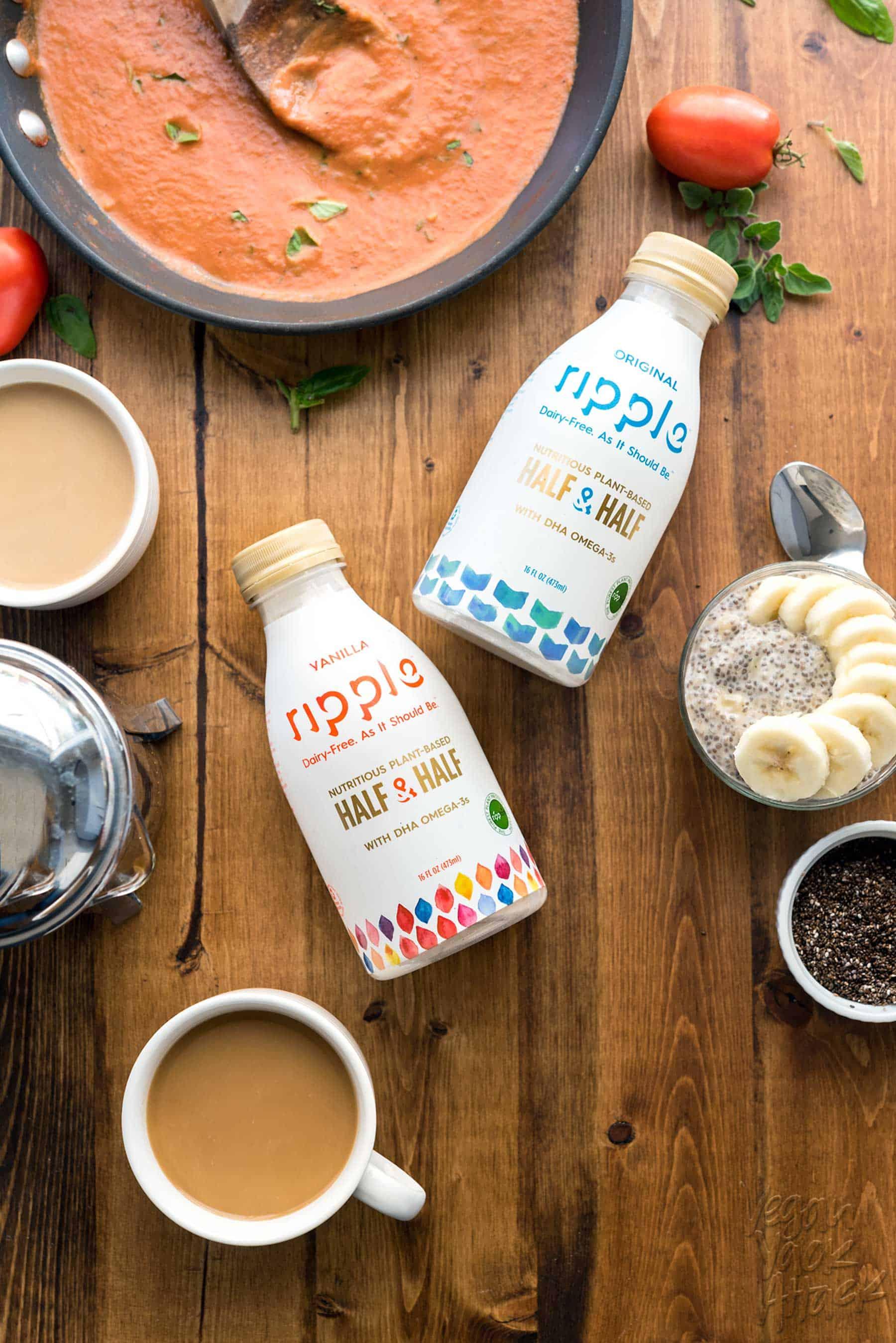 New Vegan Product Review: Ripple Half & Half! Silky smooth, ultra creamy, and versatile. Allergy-friendly, Nut-free #RippleFoods #DairyFreedom