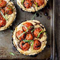 Creamy Tomato Basil Tartlets