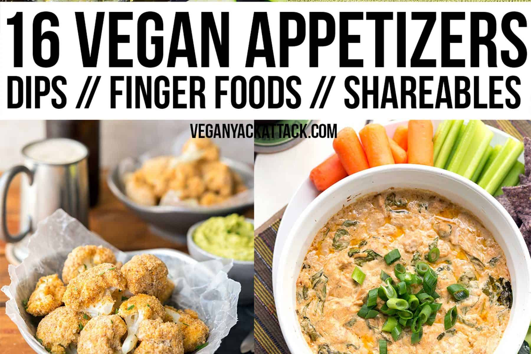 New Year's Eve is around the corner, and what better to serve at your gatherings than some fun, vegan appetizers?