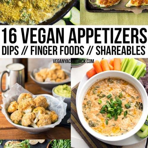 16 Fun Vegan Appetizers!