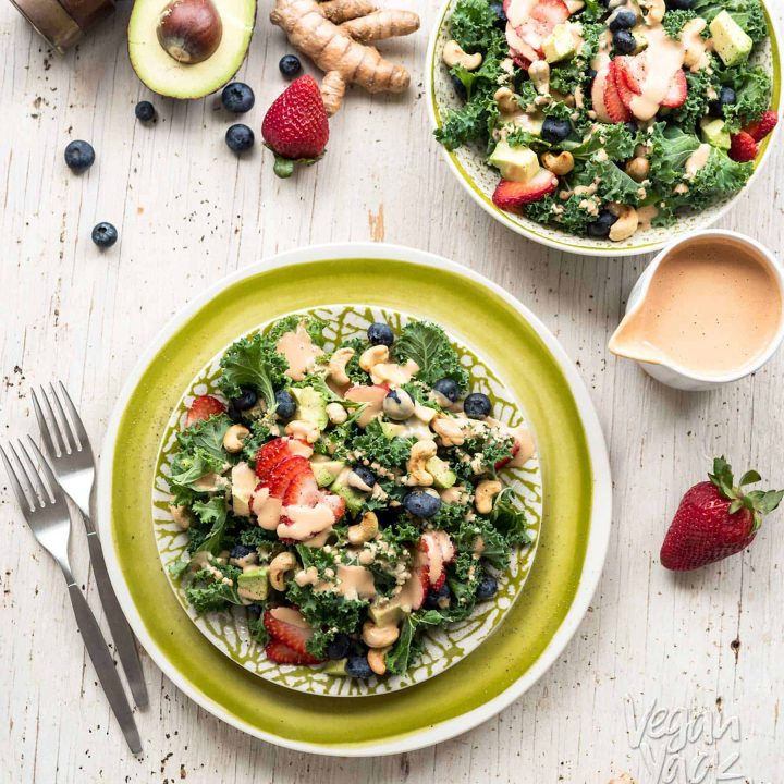 Refreshing Strawberry Turmeric Salad