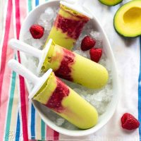 Avocado Raspberry Pops