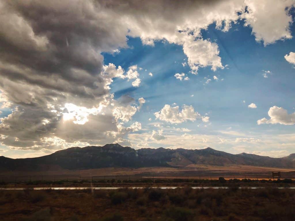 Sunset near Levan, Utah