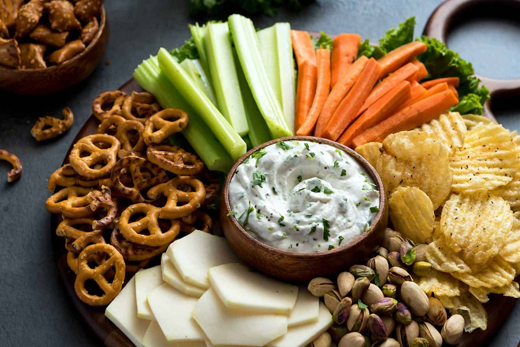 Cilantro Onion Dip Party Platter