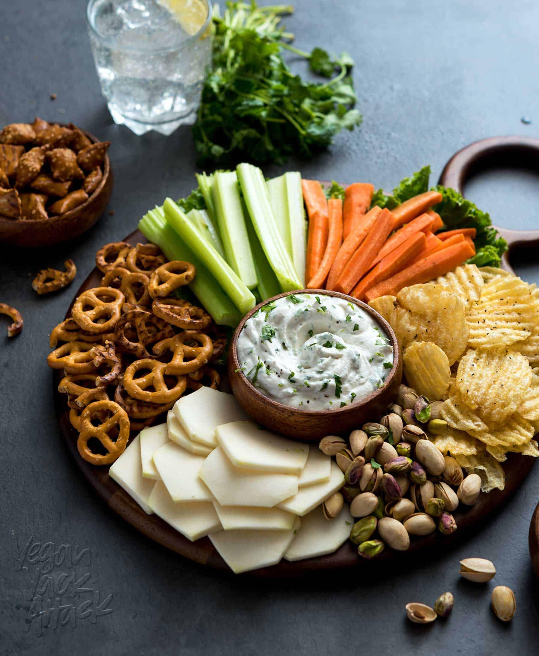 Cilantro Onion Dip Party Platter