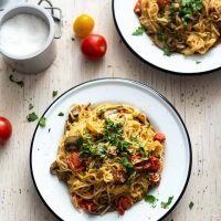 One Pot Mushroom Spaghetti [Mindful Vegan Meals]