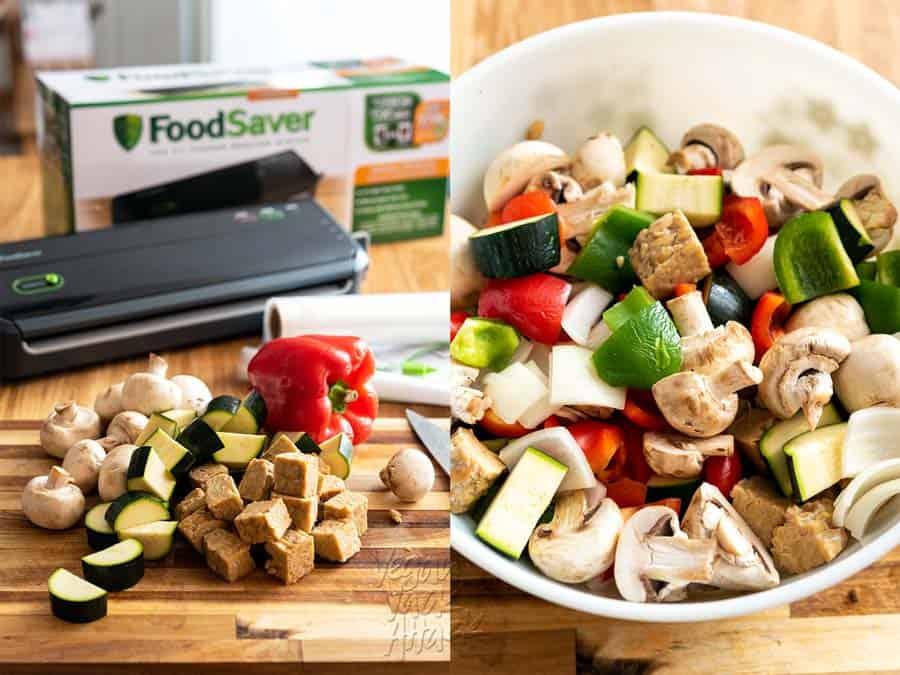 Veggies for skewers + Food Saver