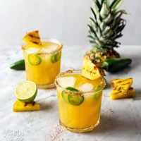 Charred Pineapple Jalapeño Margaritas