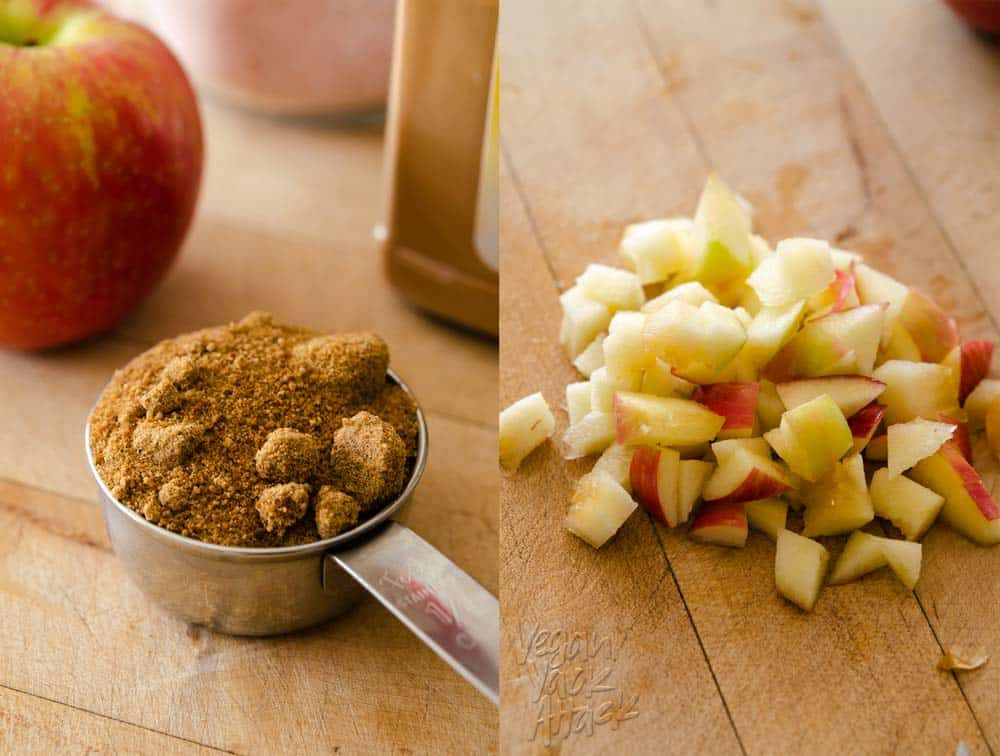 Coconut sugar and apples