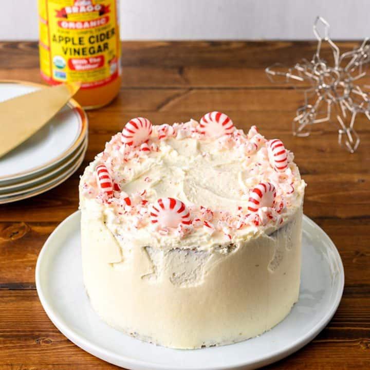 Vegan Peppermint Cloud Cake