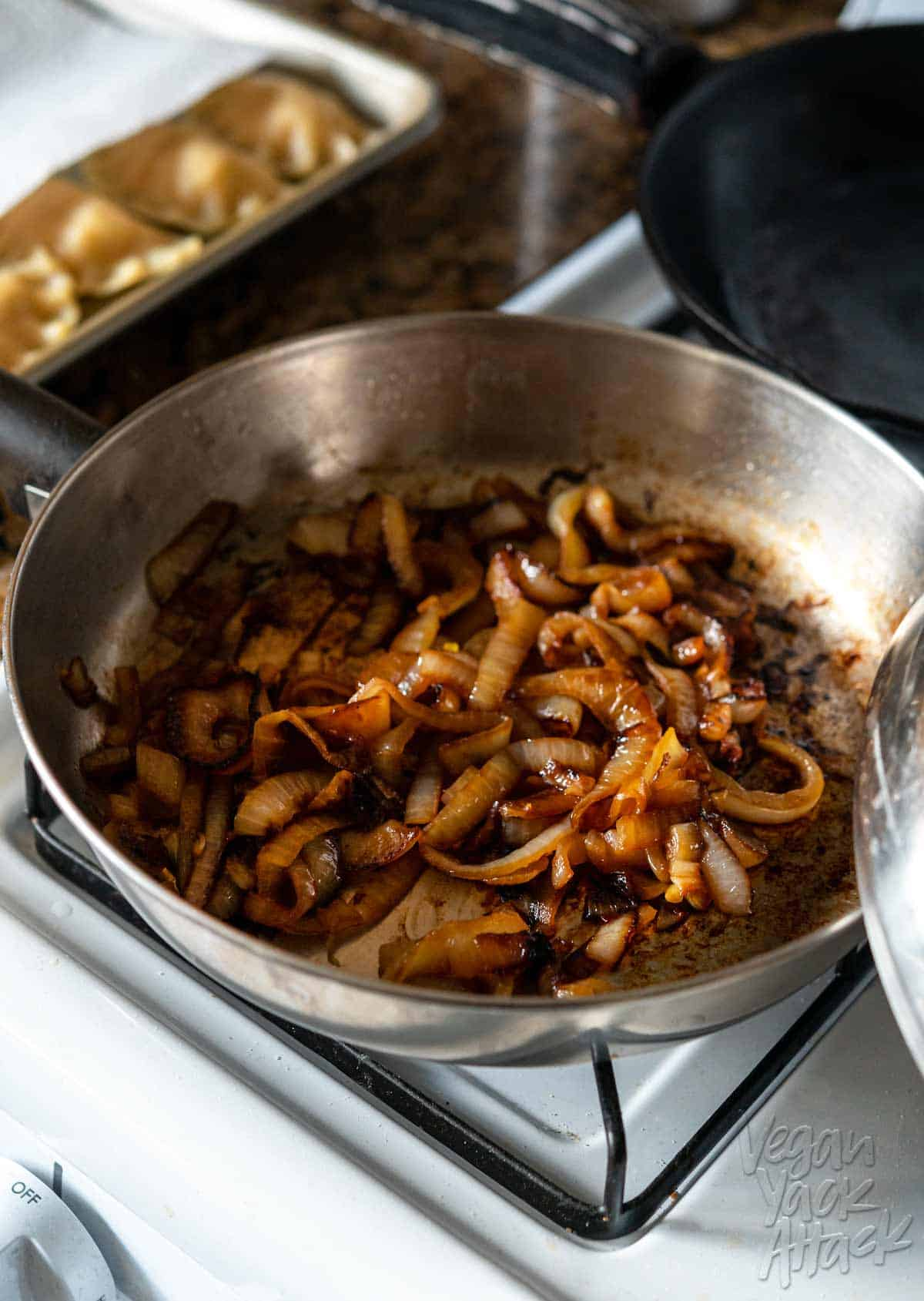 Image of pan full of caramelized onions