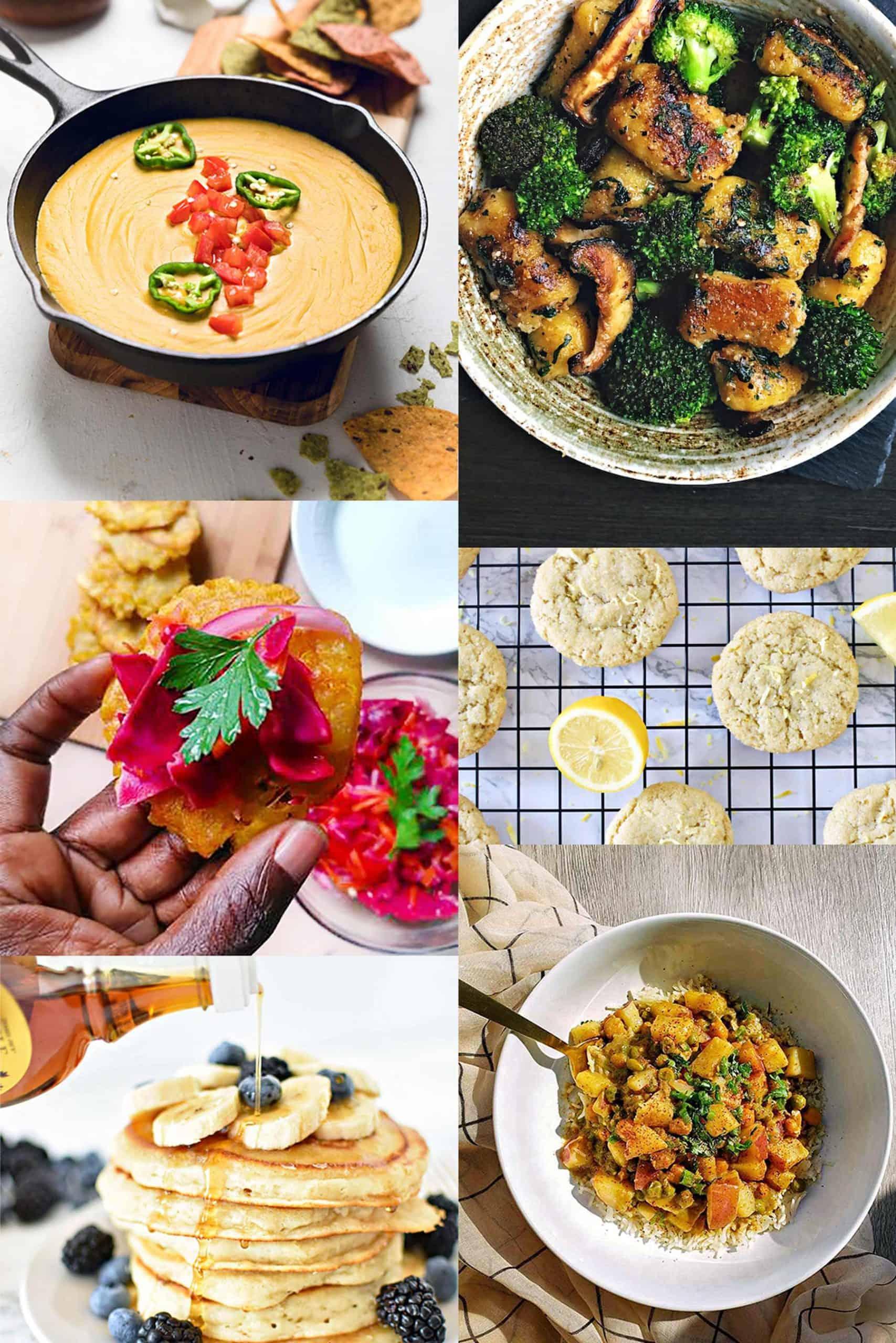 Image collage of Low-Effort Vegan Recipes from Black creators