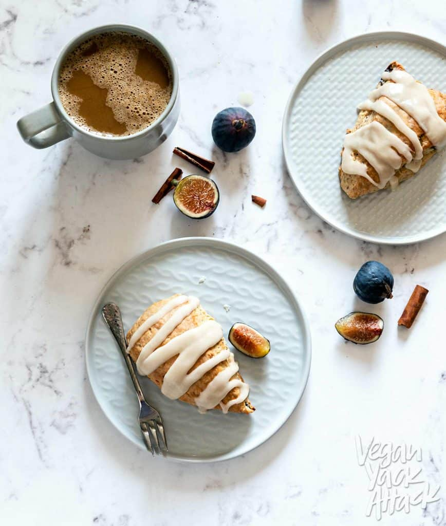 Vegan Glazed Figgy Maple Scones