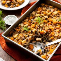 Autumn Squash Wild Rice Bake