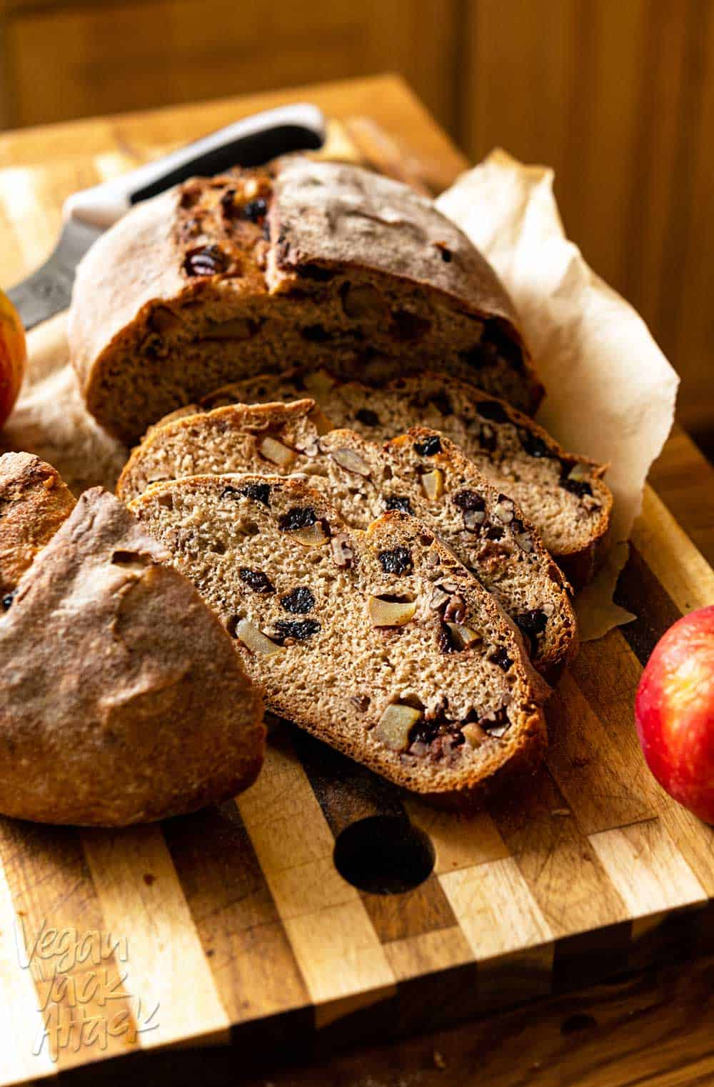 Crusty Apple Cranberry Dutch Oven Bread Vegan Yack Attack