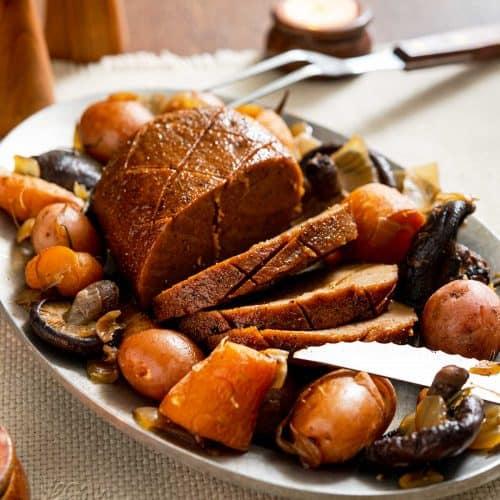 Slow Cooker Seitan Roast