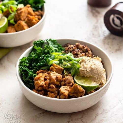 Chipotle Tempeh Kale Bowl [VYA's Plant-Based Meal Prep]