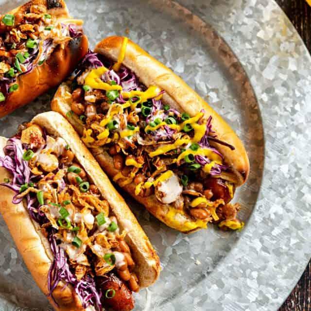 Vegan Loaded BBQ Dogs